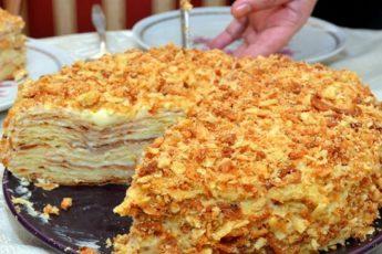 Рецепт постного торта «Наполеон» на пиве: балую этим десертом мужа, когда он постится 1