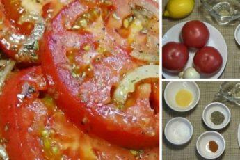 Делайте сразу 2 порции! Очень вкусная закуска из помидор 1
