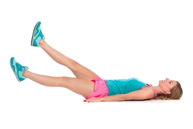 woman-does-scissors-ab-workout