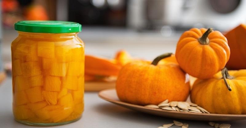 closeup-on-jar-of-pickled-pumpkin-on-table