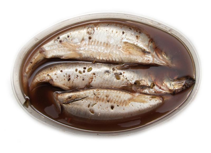 spicy-salted-herring-on-a-white-background